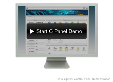 start cpanel demo - opens in a new window